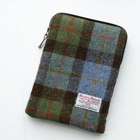 iPad or iPad Pro zipped case, MacLeod tartan 'Harris Tweed'