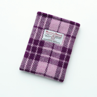 Kindle cover in pink and plum Harris Tweed, can be made to fit Kobo models