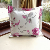 SALE: modern cushion, 16 x 16, pink roses