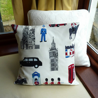 SALE: LONDON cushion, 16 x 16
