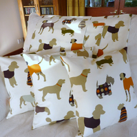 SALE: Pair of cushion covers, dog cushions, 16 x 16""