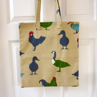 SALE: Shopping Tote, reusable cotton tote, chicken tote