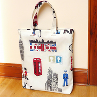 SALE: Shopping Tote, reusable cotton tote, London tote