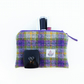 Tartan makeup bag, HARRIS TWEED, small wool pouch
