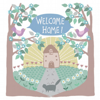 "Square Card- ""Welcome Home!'"
