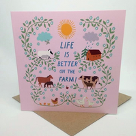 The Farm- Square Card