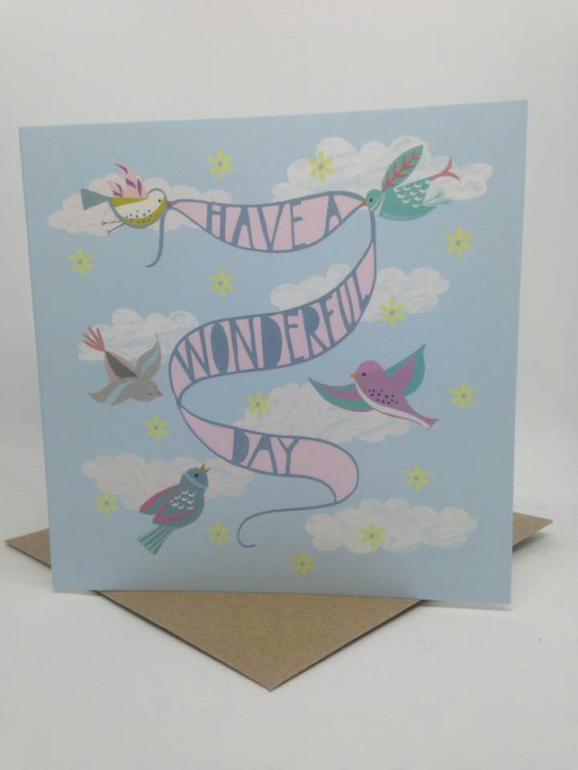 'A Wonderful Day' Square Card