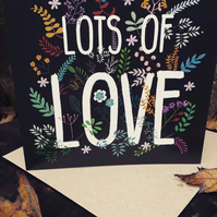 'Lots of Love' -Square Card