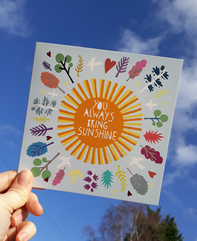 'Sunshine' Square Card