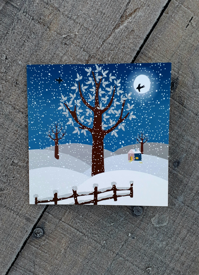 Winter- square card