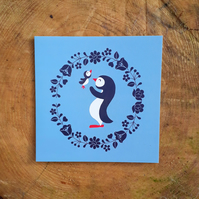 Penguin Love- Square Card