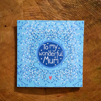 Square card- 'Wonderful Mum'