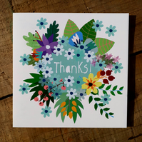 'Thank You Flowers' Square Card