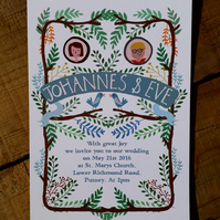 Woodland Wedding- Sample Invitation