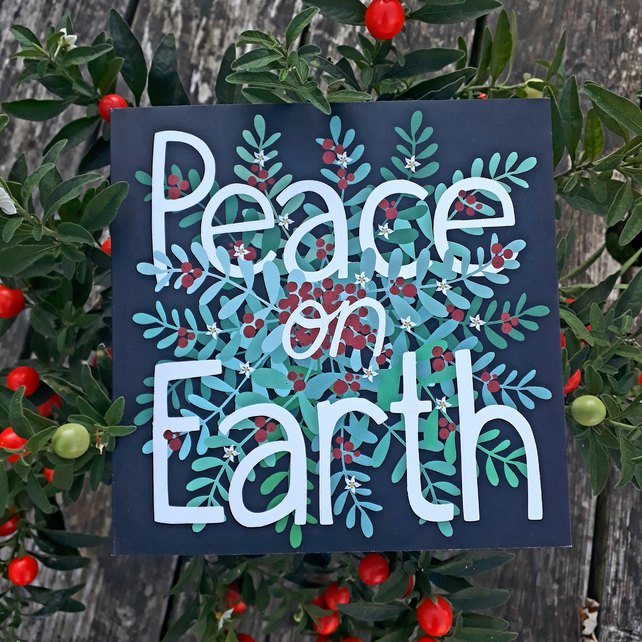 Square card- 'Peace on Earth'