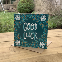 Good luck square card for new job, interview, exams