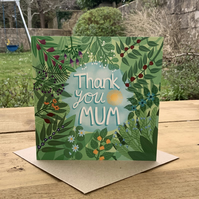 Thank You Mum, square are for Mother's Day