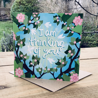 Thinking of you- square card