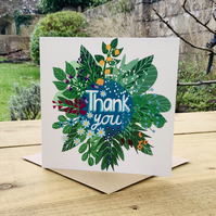 Thank You Flowers- square card