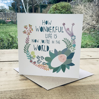'Wonderful Life' Square Card
