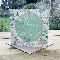The Greenest Grass- Square Card