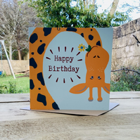 Giraffe- square card