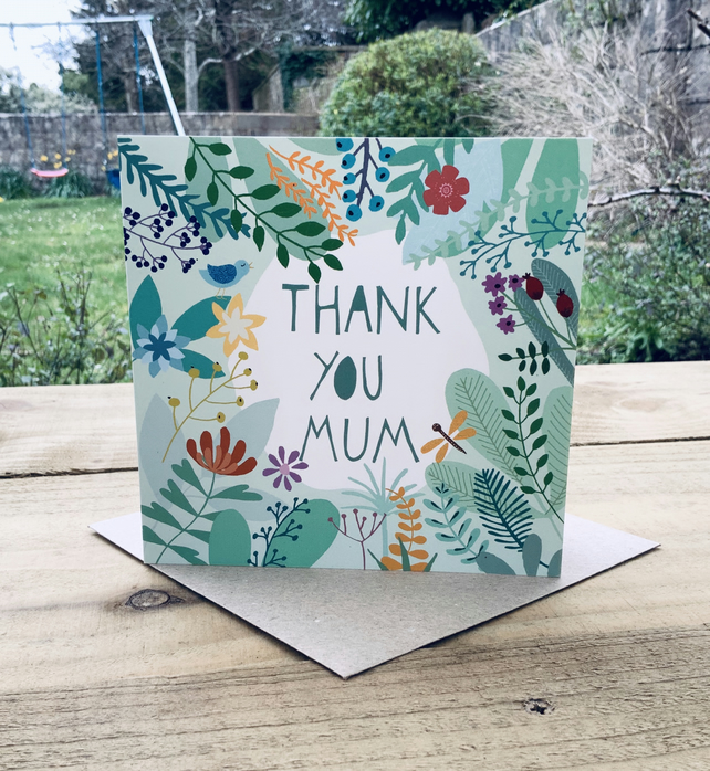 'Thank You Mum'- Square card