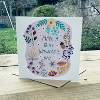 Square card- 'Truly Wonderful'