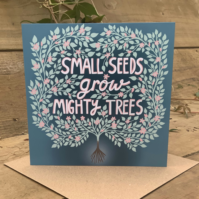 Square card- 'Small Seeds'