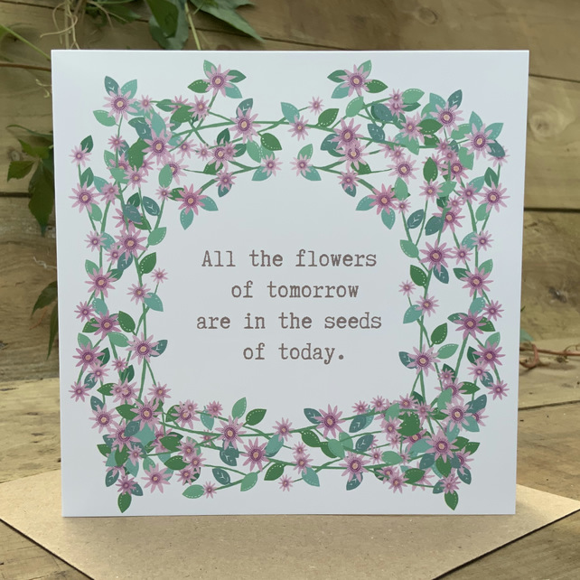 Square card-'Tomorrows Flowers'