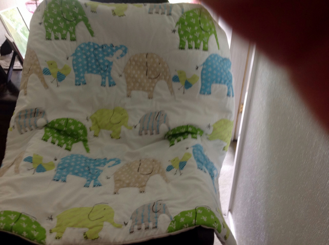 Elephant cot cover