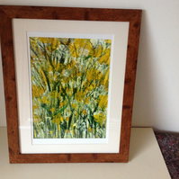 Acrylic painting buttercups..