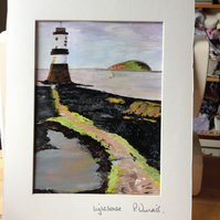 Acrylic painting c painting lighthouse.