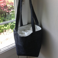 Tote shoulder denim bag
