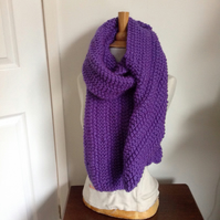 Long purple scarf