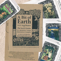 SECRET GARDEN - DIY Seed Packets for Earth Day, vintage illustrations, classic