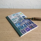 Postage Stamp Art A6 Notebook - Orange Blue - Choice of pages