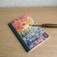 Rainbow Postage Stamp Art A6 Notebook - Choice of pages