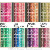 Upcycled British Stamp Notebook - Recycled Ombre Art, Choice of Colours
