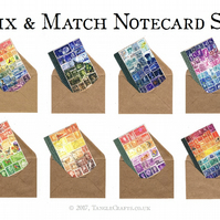 Postage Stamp Notecard Set, A6 - Blank Greeting Cards - Choice of 8 Designs