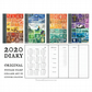 2020 Pocket Diary - Upcycled Vintage Postage Stamp Collage - A6 Monthly Planner