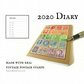 2020 Pocket Diary, Rainbow Vintage World Postage Stamps - Month to View Planner