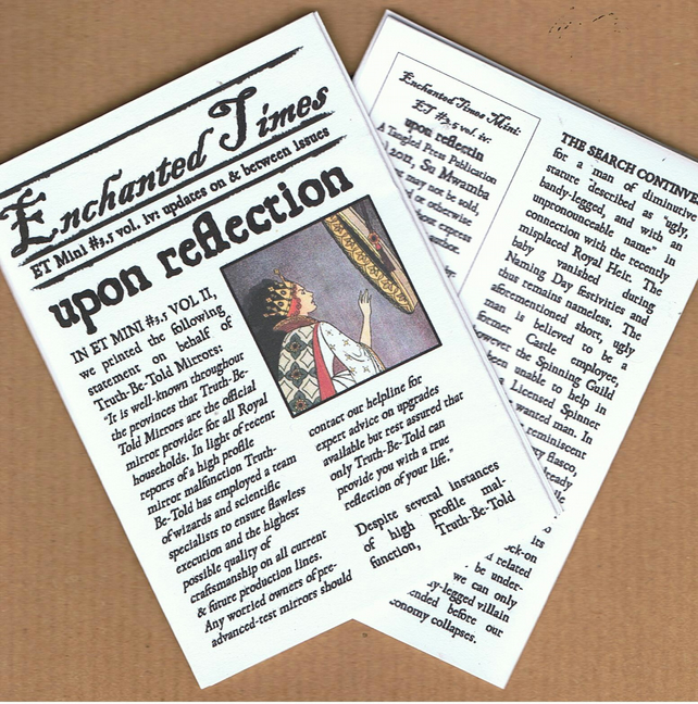 NEW Enchanted Times Mini Issue 3.5 vol. v - Upon Reflection - fairy tale zine