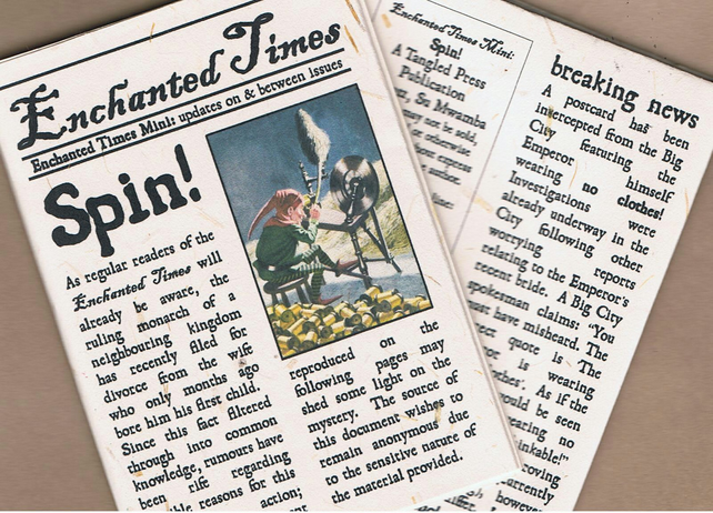Issue 3.5 vol. i Enchanted Times - Spin! - fairy tale newspaper