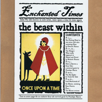 Enchanted Times issue 5 - fictional fairytale newspaper zine - Red Riding Hood