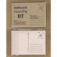 POSTCARD RECYCLING KIT Looseleaf mail art zine - upcycle projects