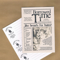 BORROWERS RECYCLE - Zine, mailing labels, re-use labels - postal upcycling kit