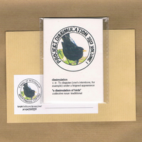 A DISSIMULATION of BIRDS Vol 1 - postage stamps, collective nouns, charity zine