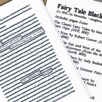 FAIRYTALE BLACKOUT - a mini zine of blackout poetry from fairy tales