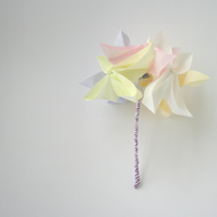 Posy of Spring Origami Flowers, Flowergirl Bridal Posy